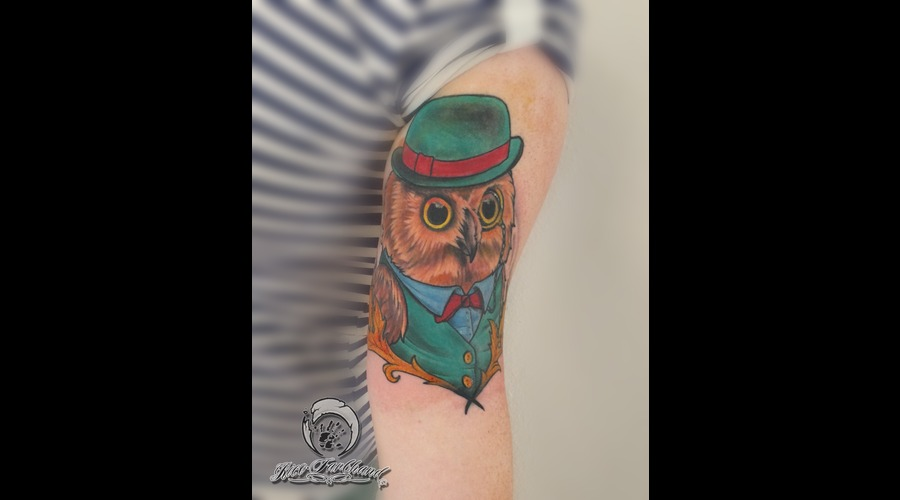 Owl  Neotraditional Arm