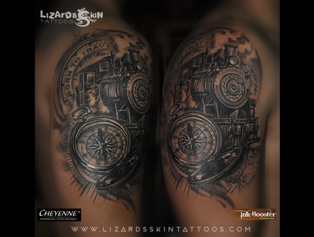 Steam Engine With Compass.. Arm