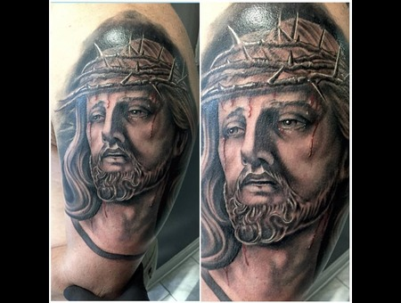 Jesus  Portrait  God  Thorns  Heaven  Hell  Arm