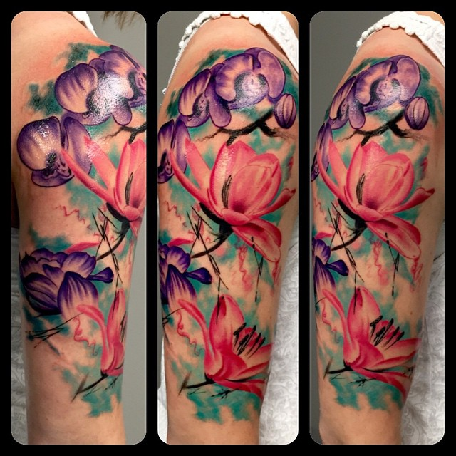 100 poppy flower watercolor tattoo watercolor for Tattoo shops topeka ks