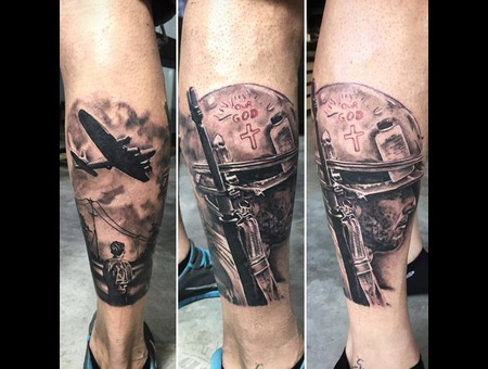 War Tattoo  Lower Leg