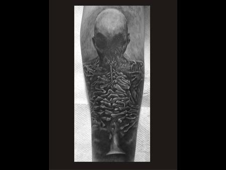Beksinski Horror Dark   Forearm