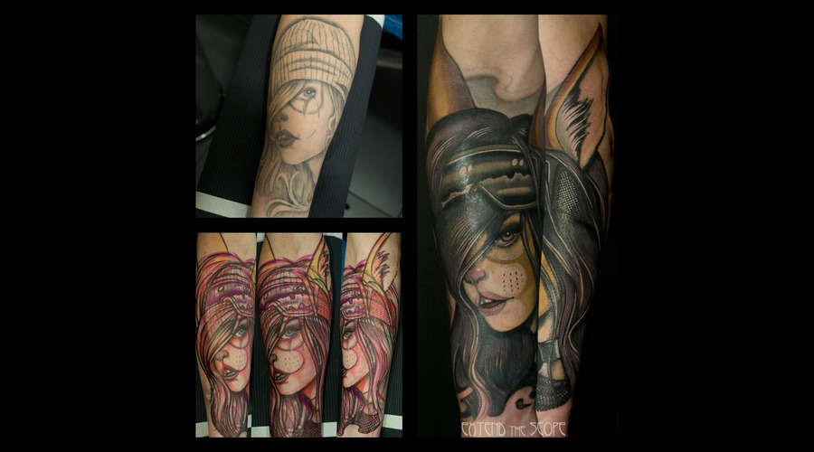 Freehand  Touch Up  Cover Up Forearm