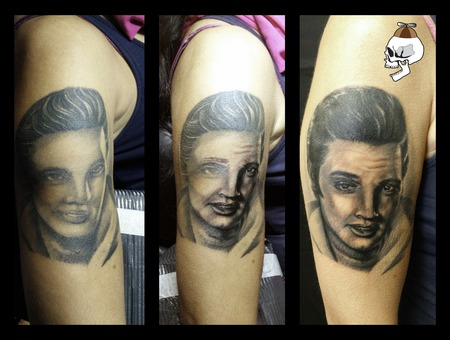 Elvis Fix Coverup Portrait Arm