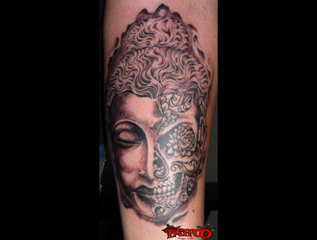 Buda/Sugar Skull Forearm