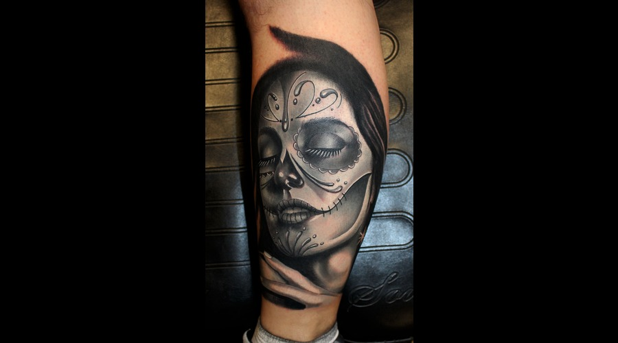 Day Of The Dead  Portrait Lower Leg