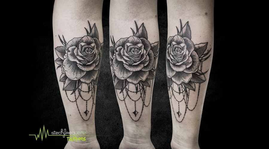 Rose  Dotwork  Abstract Arm
