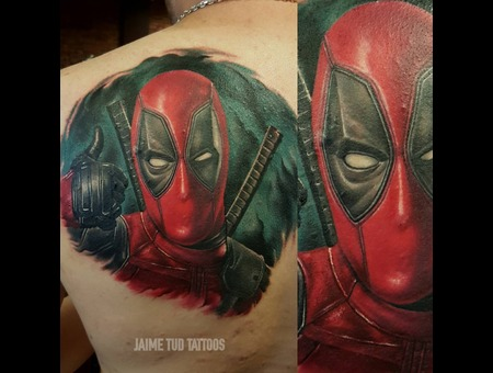 Deadpool  Marvel  Superhero Back