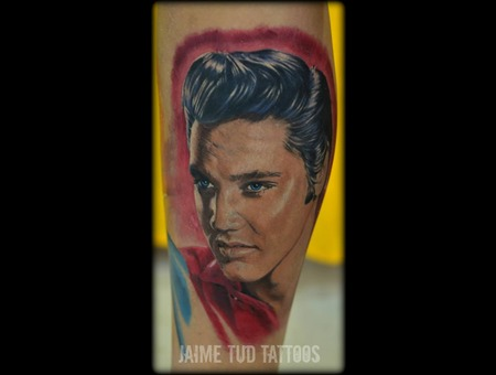 Elvis Presley  Realism  Portrait Lower Leg