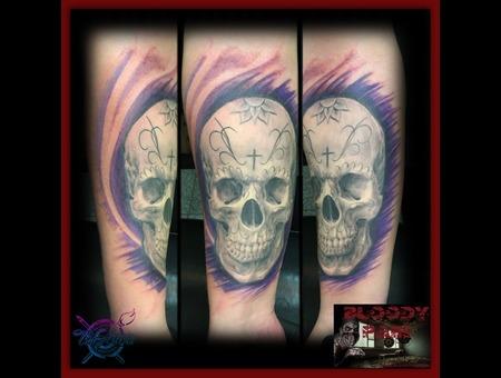 Skull  Dia De Los Muertos  Sugar Skull Forearm
