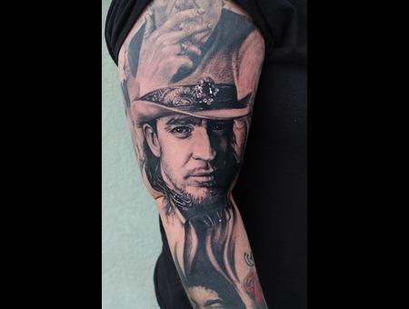 Stevie Ray Vaughan  Srv  Musician  Portrait Black Grey Arm