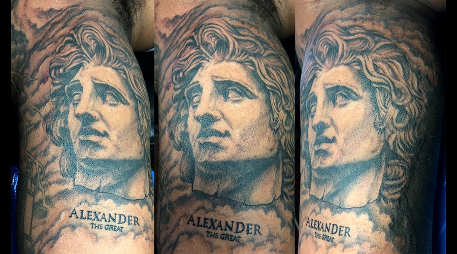 Alexander The Great Black Grey Arm