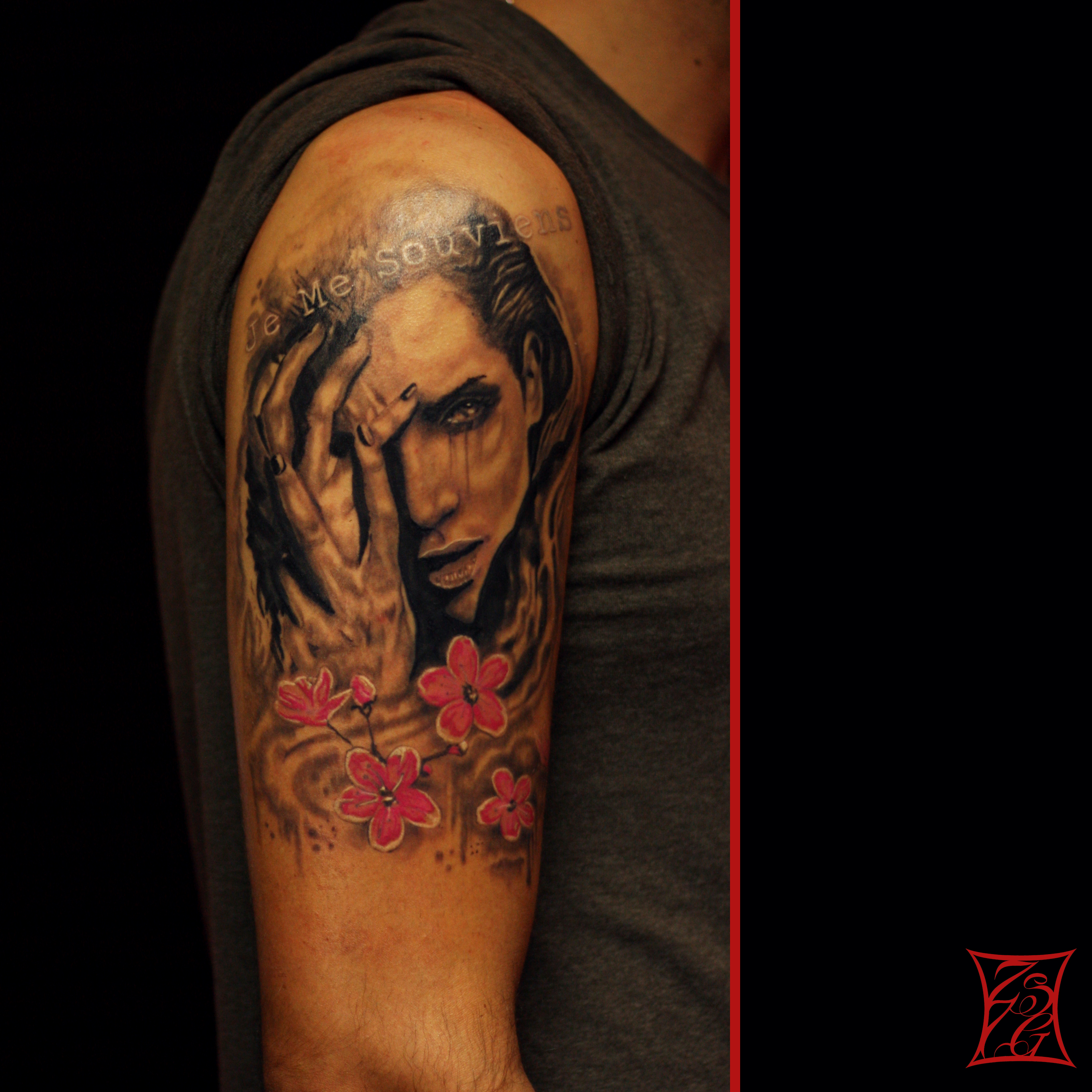 c444180bd Girl Portrait Tattoo Montreal Gabor Zsil Arm