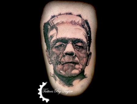 Frankenstein  Black And Grey  Portrait  Monster Black Grey Thigh