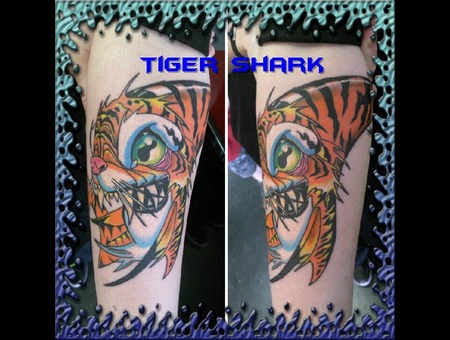 Tiger Shark  Color Bomb  New School Forearm