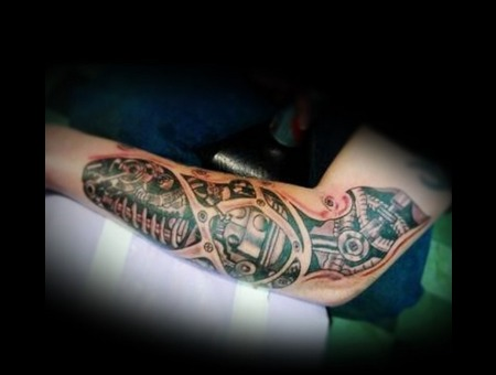 Biomechanical  Robotic  Freehand  Custom Tattoo Arm