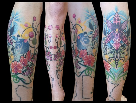 Tattoo  Flower Tattoo  Leg Tattoo Lower Leg