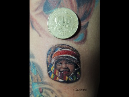 Portrait  Small Tattoo