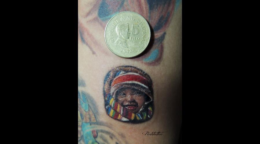 Portrait  Small Tattoo