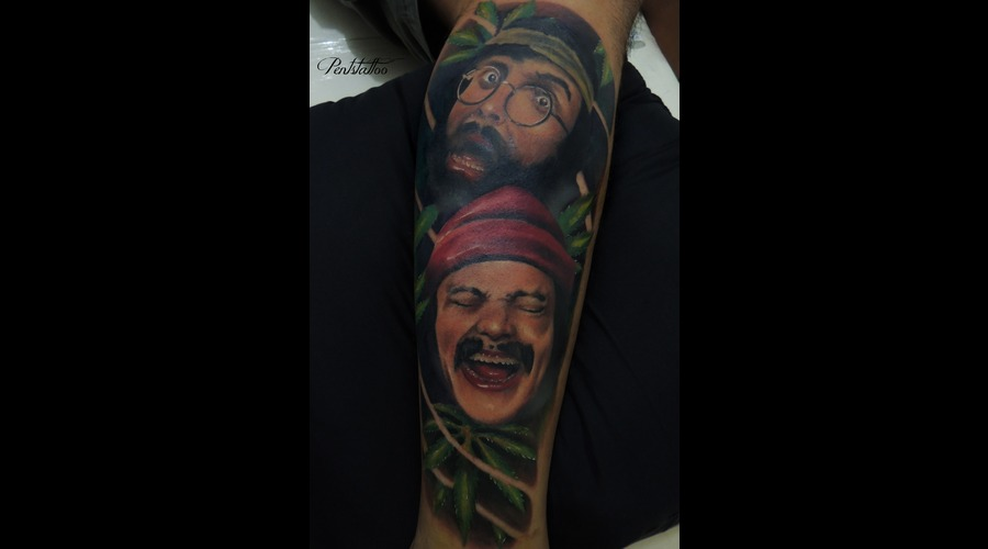 Portrait  Cheech N Chong  Marijuana Lower Leg