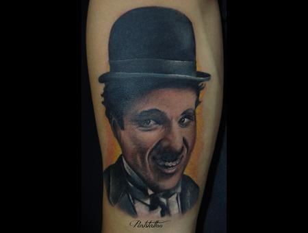 Portrait  Charlie Chaplin Forearm