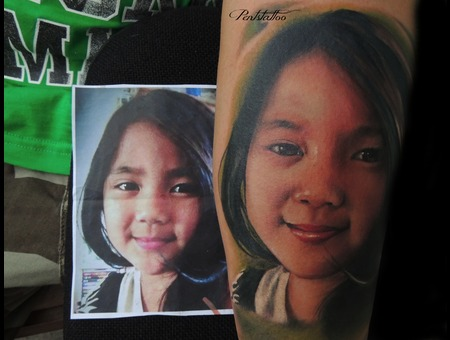 Portrait  Girl Forearm