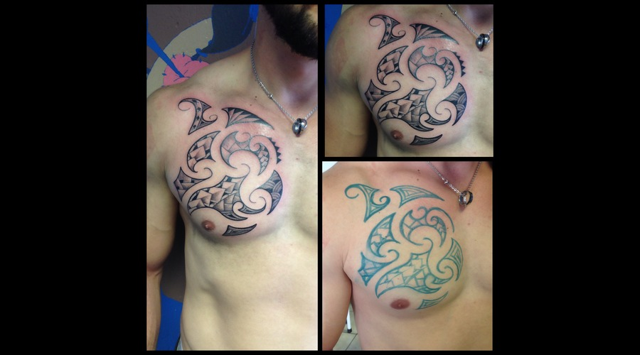 Maori  Polynesian  Freehand Chest