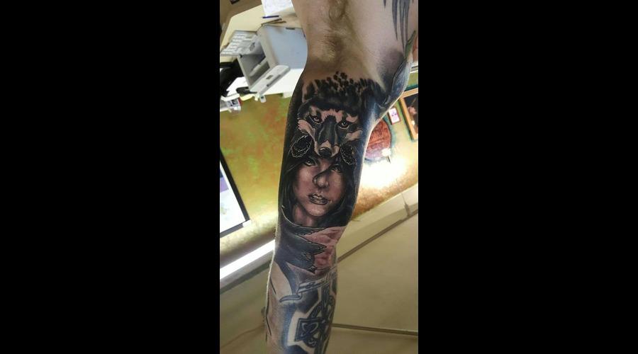 Fox  Girl' Backandgreytattoo  Crazy Tattoo  Arm