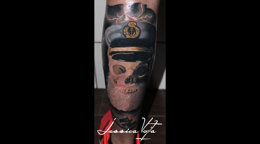 Sailing  Skull  Beard  Flashes Lower Leg
