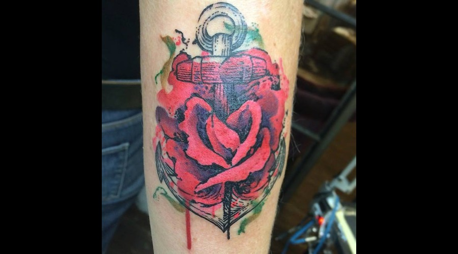 Tattoo  Art  Rose  Trashy Forearm