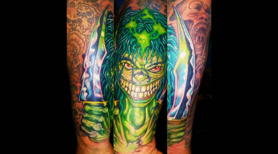 After Before  Evil Ernie  Rework Forearm