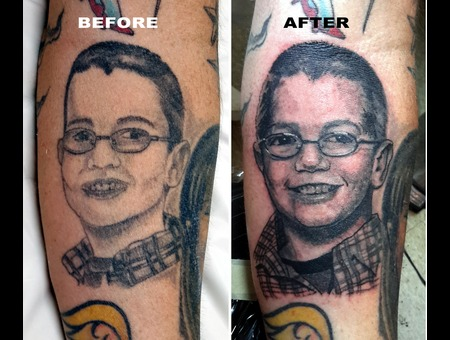 Coverup  Coveruptattoo  Portraittattoo  Portraitcoverup  Blackandgreytattoo Forearm