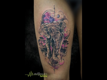 Elephant  Abstract  Sketchy  Africa Thigh