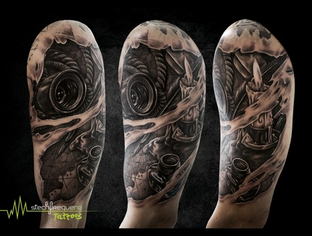 Map  Candle  Realistic  Forearm