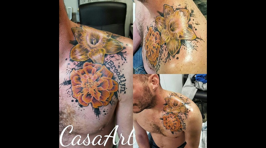 Realism. Abstract. Flower Chest