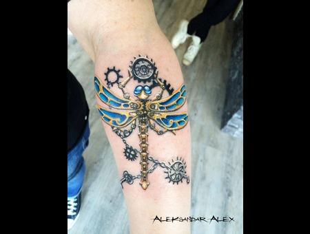Steampunk Dragonfly Forearm