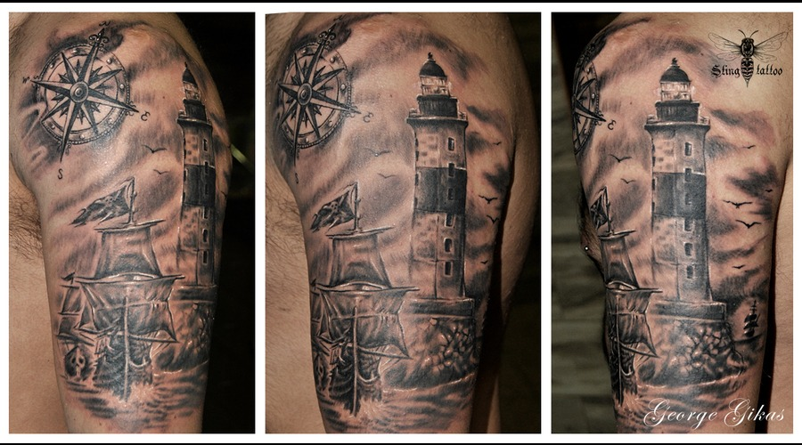 Lighthouse  Pirate Ship Arm