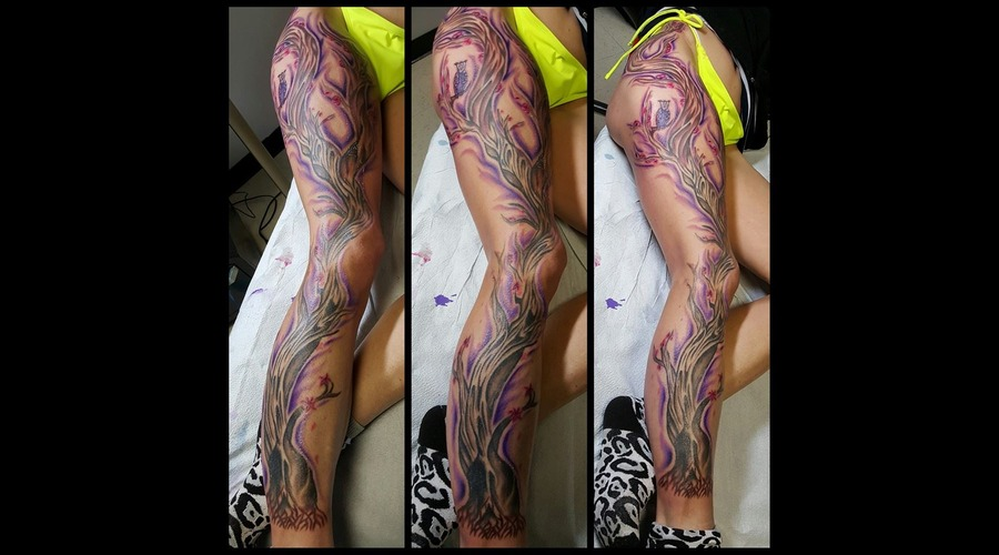 Huge Tree  3 Sessions  Purple Lower Leg