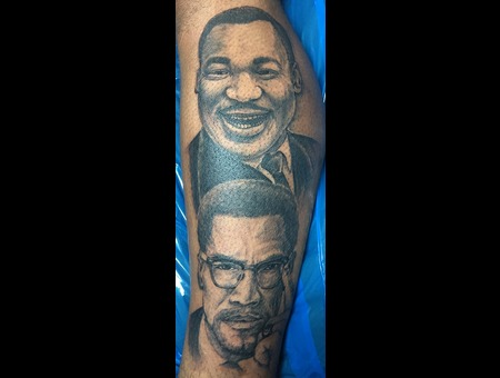 Albert t colon certified artist for Nas malcolm x tattoo
