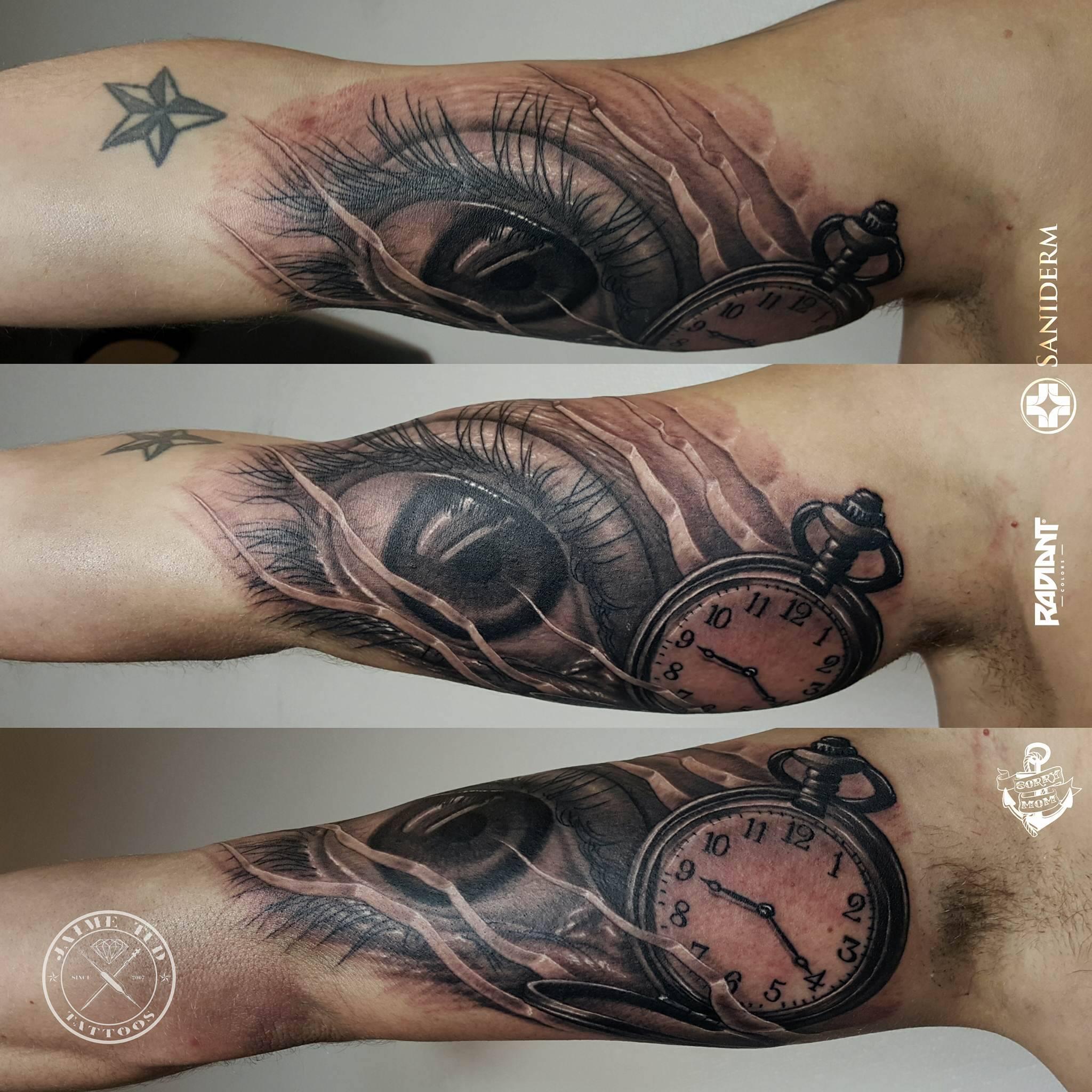 Eye Clock Realism Realistic Arm
