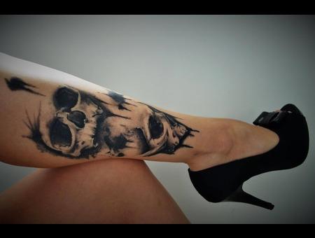 Black Grey Lower Leg