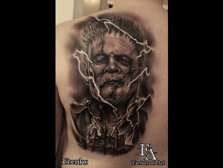 Frankenstein Tattoo Horrortattoo
