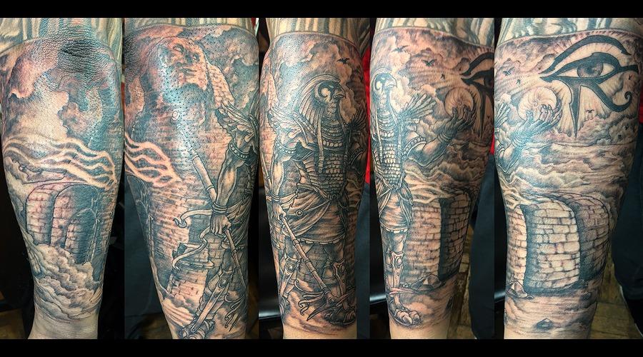 Horus Black Grey Forearm