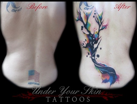 Watercolor Cover Up Back