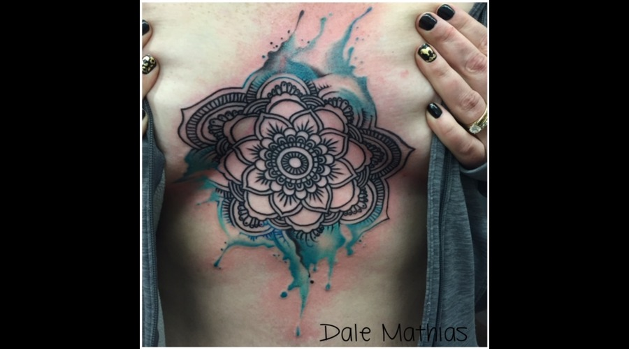 Mandala  Watercolor  Watercolour  Sternum  Underboob   Chest