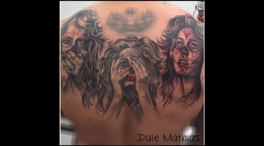 See No Evil  Hear No Evil  Speak No Evil  Back Piece  Bella Muerte   Back