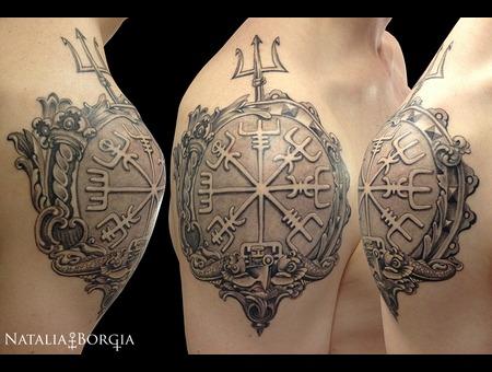 Vegvisir  Viking  Compass  Marine  Maritime Shoulder