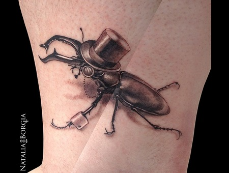 Insect  Beetle  Horned  Top Hat  Gentleman  Bug Lower Leg