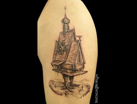Baba  Yaga  Slavic  Witch  House  Chicken  Leg  Folk Thigh