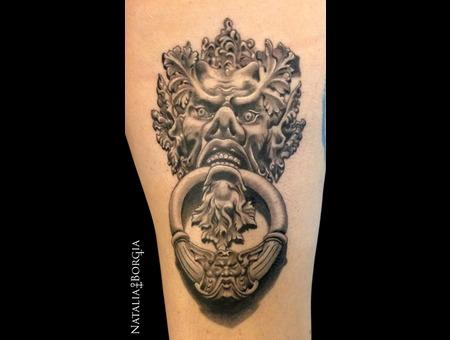 Demon  Door  Knocker  Greenman  Devil Thigh